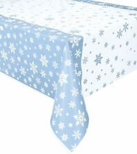 Snowflakes Christmas Tablecover Tablecloth Blue White Frozen Party Decorations