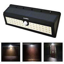 Outdoor Garden 44 Leds Solar Powered PIR Motion Sensor Security Wall Light Lamp