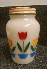 FIRE KING TULIPS 1 Pepper shaker Milk Glass Vintage