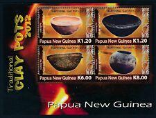 2012 PAPUA NEW GUINEA TRADITIONAL CLAY POTS MINISHEET FINE MINT MNH