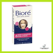 Biore Deep Cleansing Pore Strip - 6 Nose Strips pack. SALE!