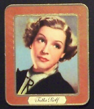 Tutta Rolf 1937 Garbaty Passion Film Favorites Embossed Cigarette Card #70