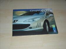 57249) Peugeot 407 Coupe Pressemappe 09/2005