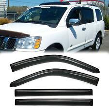 4x For 2004-2014 Nissan Armada Sun Rain Guard Vent Shade deflector Window Visor