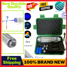High Power Laser Torch 450nm 10000m Focusable Blue Burn Lazer Pointer Flashlight
