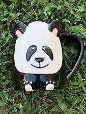 Vintage TAG Panda Bear Coffee Latter Cappuccino Hot Tea Mug Cup ❤️sj4j