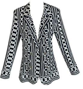 FRANK LYMAN 203318 Blazer Jacke Stretch Kette Büro Elegante Dame UVP: 229€