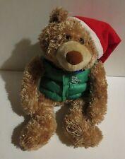 "Hallmark The North pole Teddy Bear Stuffed Animal Plush 15"""