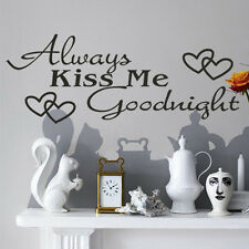 Always Kiss Me Goodnight Wall Art Quote Removable Vinyl Decal Stickers De Pop