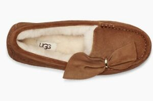 UGG ANSLEY TWIST FULLY LINED MOCCASIN SLIPPERS Chestnut COLOR SIZE 7 US