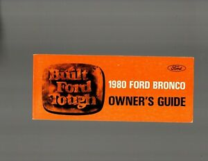 1980 Ford Bronco Owner's Guide 1979, Paperback, illustrated