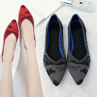 US Women Casual Flat Shoes Pointed Toe Office Work Ballet Walking Loafers Comfy