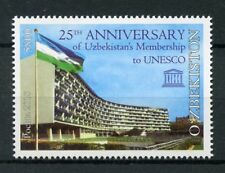 Uzbekistan 2018 MNH UN UNESCO Membership 1v Set Architecture Flags Stamps