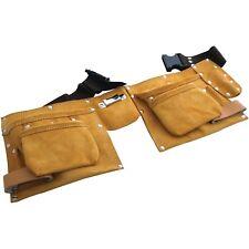 11 Pocket Cinturón de Herramientas De Cuero Heavy Duty Carpintero Constructores de bucle de martillo-Amtech