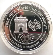 Laos 2006 Soccer 15000 Kip Silver Coin,Proof