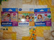 Lot 3 VTECH INNOTAB GAME CARTRIDGES DOC MCSTUFFINS * DORA * SOFIA LOT#10