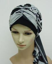 Women's turban with long ties, volume head wear, tichel, head snood, hair snood