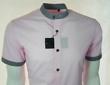 Cotton Blend Grandad Regular Fit Casual Shirts for Men