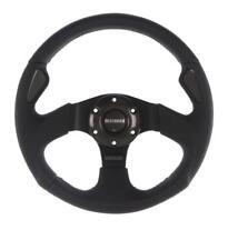GENUINE Momo Jet 350mm Steering Wheel Black leather