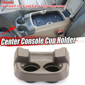 Front Center Console Cup Holder Dark Tan for Ford F-250 350 450 550 Super Duty