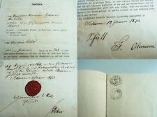 Urkunde SCHWAAN 1871/72: Verkauf Haus Güstrower Str. 268 an Schlachter OHMANN