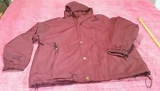 Mens Large Warm Burgundy parka, MTA Pro, L, jacket, Solid color
