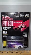 1/64 RACING CHAMPIONS HOT ROD MAGAZINE 1941 WILLYS COUPE PURPLE AND WHITE B78