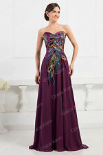 Strapless Satin Wedding Evening Formal Party Cocktail Gown Prom Bridesmaid Dress