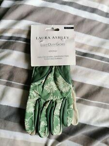 Laura Ashley Light Duty Gardening Gloves (Green Kimono Print) Medium, New
