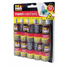 Lot de 10 Fly insectes insectes insectes guêpe Poison Gratuit Collant Papiers Pièges Catchers