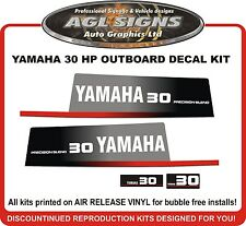 YAMAHA 30 HP Precision Blend Outboard Decal Kit , reproductions  Late 80's