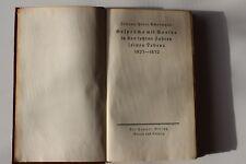 Gelprahe mit Goethe in den letzten jahren seines lebens, Antique German book