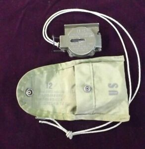 US Military 3H Tritium Compass Magnetic with LC-1 Belt Pouch.