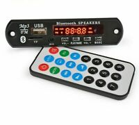 Bluetooth Speakers MP3 Amplifier Decoder Board With Remote Control DC12V 15W New