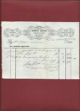 Antica Fattura 1869 Manoscritto Tappezziere Mobili Ermogene Baldacci Pistoia