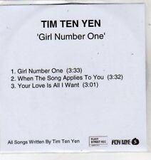 (BS423) Tim Ten Yen, Girl Number One - 2007 DJ CD