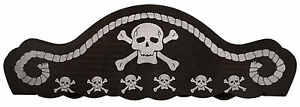 Boys Girls Childs Pirate Swashbuckler Hat Fancy Dress Costume Accessory