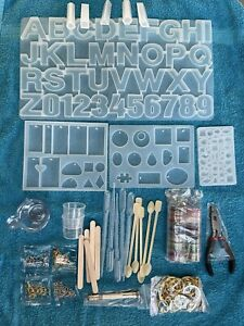 Complete Silicon Mould Kit For Making Jewelery, Keyrings Etc Resin