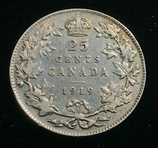 1919 Canada  - 25 Cents Silver Coin - Extremely Fine - CA31