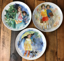 1979, 80, 81 Paul Durand Limoges Collector 8� Plates Set Of 3
