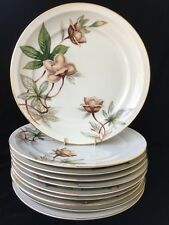 (10) Meito China - Japan 'WOODROSE' 10.25 inch DINNER PLATES