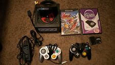 GameCube Jet Black Console with Super Smash Bros and OEM Controller (READ)