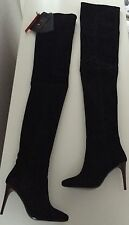 Balmain X H&M Overknee Stiefel boots schwarz Leder black leather EUR 39 US 8 UK6