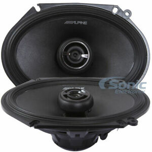 "2) Alpine R-S68 600W Max 6""x8"" R-Type 2-Way Coaxial Car Audio Speakers"