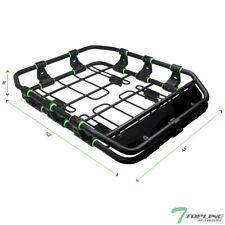Topline For Mitsubishi Modular HD Roof Rack Basket Storage+Fairing - Matte Black
