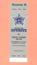 New York NY N.Y. Jets Dallas Cowboys 1999 NFL ticket stub TOPPS HOF Emmitt Smith