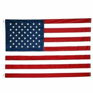 8x12 Embroidered Sewn USA American 600D Nylon Flag 8'x12' grommets