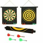 Double Sided Magnet Dart Board Game with Darts for Kids, 12 inches