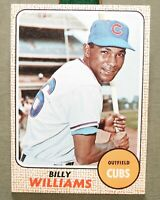 Vtg 1968 TOPPS #37 BILLY WILLIAMS BASEBALL CARD Chicago Cubs NL Outfield