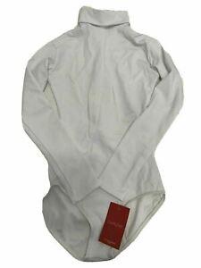 Capezio Women's Turtleneck Long Sleeve Leotard, White - Medium